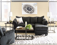Darcy Black Sofa Chaise, Rocker Recliner & Airdan Table Set