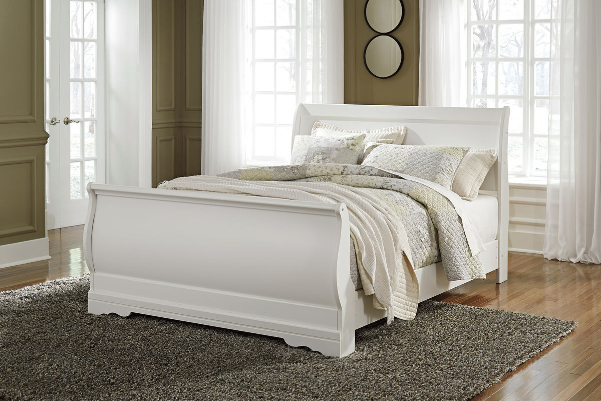 The Anarasia White Queen Sleigh Bed Available At Furniture Direct Serving Hattiesburg Ms And Surrounding Areas