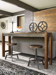 Torjin Brown/Gray 3 Pc. Long Counter Table & 2 Stools