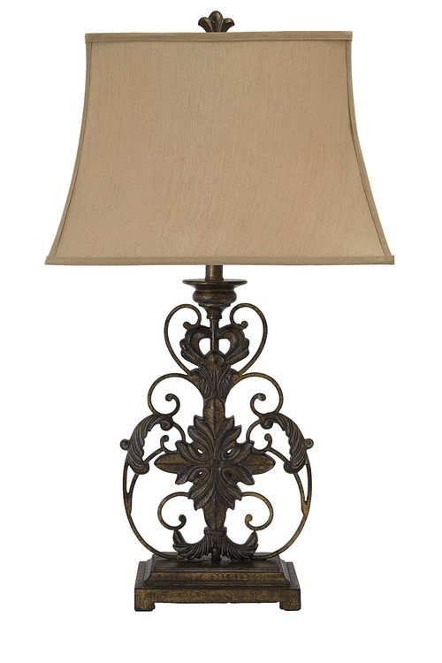 The Sallee Gold Finish Poly Table Lamp Available At