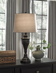 Darlita Bronze Finish Metal Table Lamp