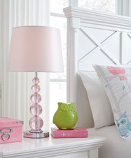 Letty Pink Crystal Table Lamp