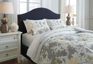 Maureen Gray/Yellow King Comforter Set