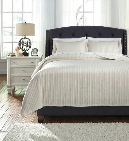The Raleda Buff King Coverlet Set Available At Furniture