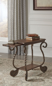 Rafferty Dark Brown Chair Side End Table