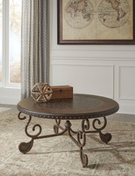 Rafferty Dark Brown Round Cocktail Table