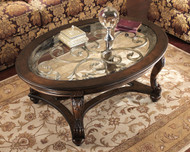 Norcastle Dark Brown Oval Cocktail Table