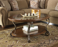 Nestor Medium Brown Oval Cocktail Table