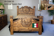 Antique Queen Bed with Fleur-de-lis