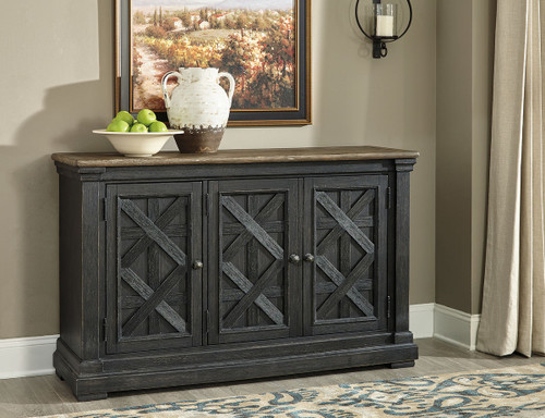 Tyler Creek Black Gray Dining Room Server