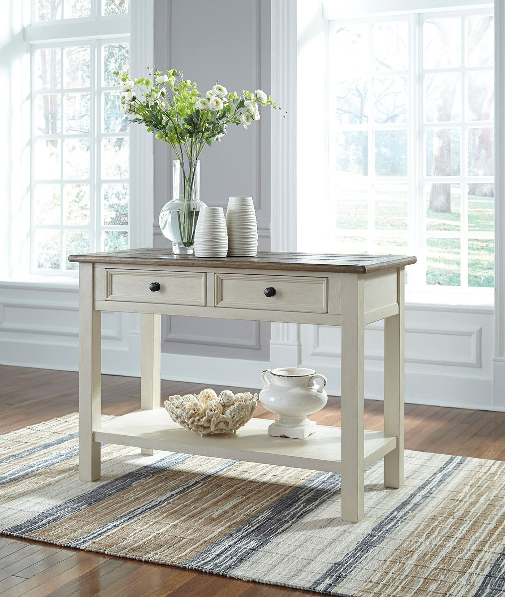 The Bolanburg Two-tone Sofa Table Available At Furniture