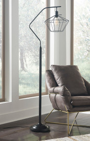 Makeika Black Metal Floor Lamp
