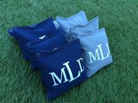 3 Letter Monogram Custom Logo Cornhole Toss Bags