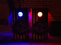 Battery Operated, Color Changing LED Cornhole Hole Light Set with Remote Control