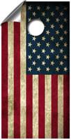 Vintage American Flag cornhole board wraps