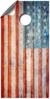 Weathered American Flag cornhole board wraps