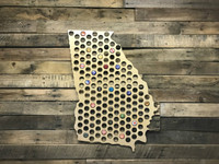 Pick Your State Beer Cap Map