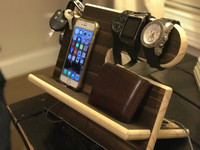 Cell Phone Dock and Accessories Organizer