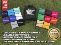 !FREE SHIPPING! Premium Solid Color Corn Filled Cornhole Toss Bags with String Tote Bag