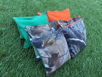 !FREE SHIPPING! Realtree Camo Corn Filled Cornhole Toss Bags with String Tote Bag