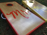 Mr. and Mrs. Custom Cornhole Board Set