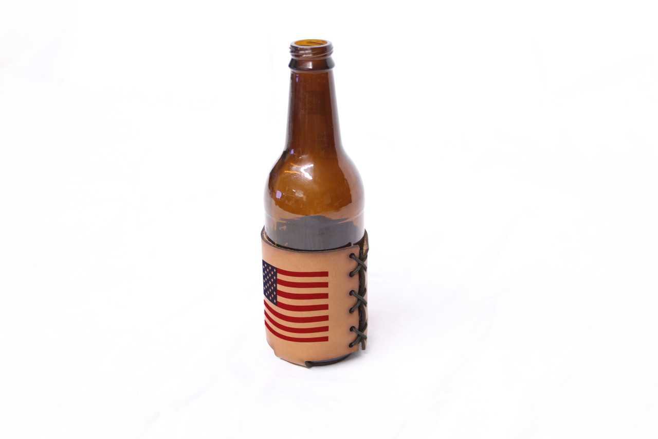 Custom Bottle and Can Leather Koozie
