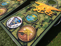 Military Theme Custom Cornhole Set