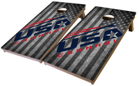 USA Cornhole Pro Series Tournament Grade Cornhole Boards-Flag
