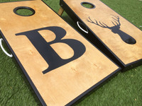 Letter and Logo Cornhole Board Set