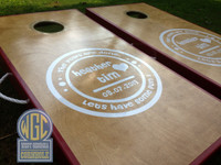 Wedding Monogram Personalized Cornhole Board Set
