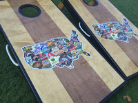 Dual Stained Craft Beer Custom Cornhole Board Set