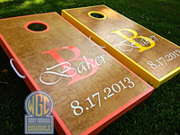 """Baker"" Design Custom Personalized Cornhole Board Set"