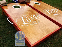 """Lowe"" Design Custom Cornhole Board Set"