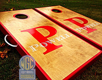 Letter And Name Custom Cornhole Boards