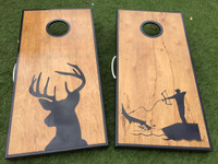 Deer and Bow Fishing Cornhole Boards