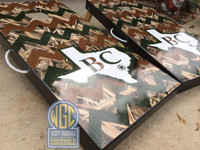 Custom Camo Chevron Personalized Cornhole Board Set