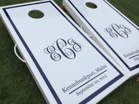 Vine Monogram Custom Cornhole Board Set