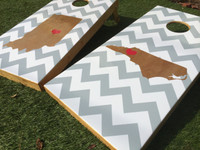 Inverse State Chevron Custom Cornhole Boards