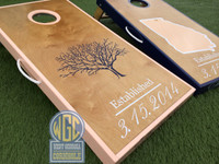 State and Tree Custom Cornhole Boards