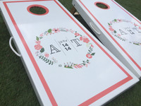 Circle Wreath Custom Cornhole Boards