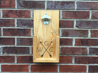 Arrow Monogram Wall Hanging Bottle Opener