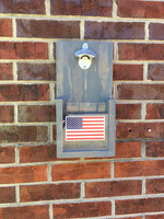 American Flag Wall Hanging Bottle Opener