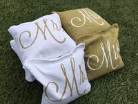 Mr and Mrs Custom Logo Cornhole Toss Bags