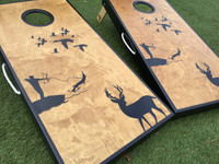 Deer, Duck, and Bowfishing Custom Cornhole Boards