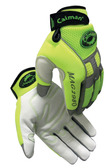 Caiman® Hi-Visibility Goatskin Leather Mechanics Gloves  ##2980 ##