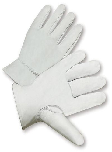 Goatskin Top Grain Leather Work Gloves  ##6827 ##