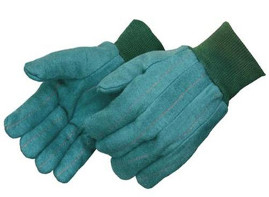 22oz Green Knit Wrist Heavy Weight Chore Gloves  ##4206Q ##