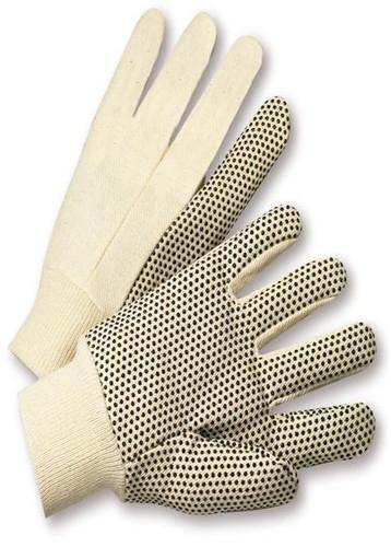 PVC Dot  8oz Cotton Canvas Work Gloves  ##330 ##