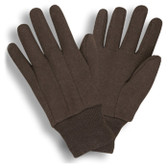 Standard Weight Brown Jersey Gloves  ##345 ##