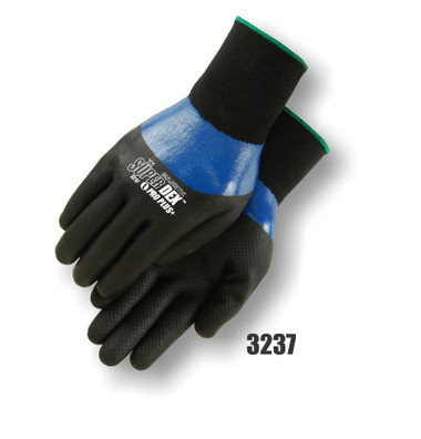 Majestic Double Dipped, Foam Nitrile On Closed Cell Nitrile, 15 Gauge Nylon Shell ##3237 ##